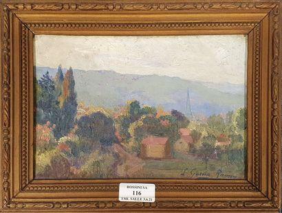 GARCIA RAMON Léopoldo, 1876-1958,  Paysage...