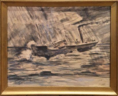 LAVAL Fernand (1886/95-1966)  Vapeur en perdition...