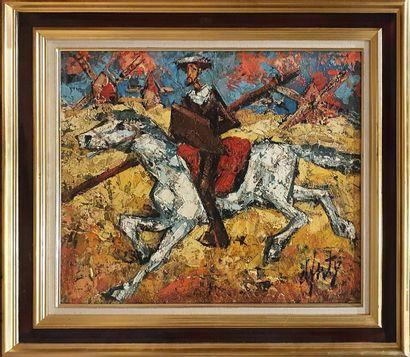 D ANTY Henri (1910-1998)  Don Quichotte,...