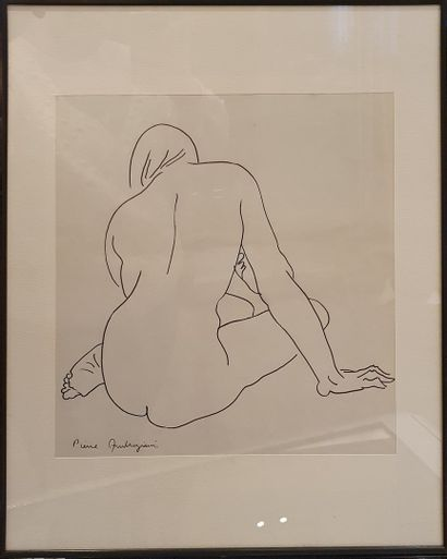AMBROGIANI Pierre (1907-1985)  Nu de dos...