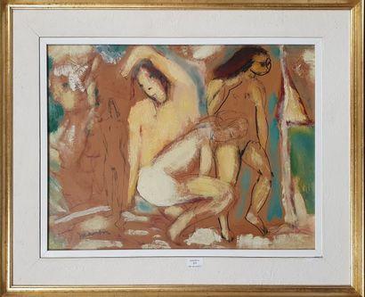 MELIK Edgar, 1904-1976,  Trois nus et figure,...