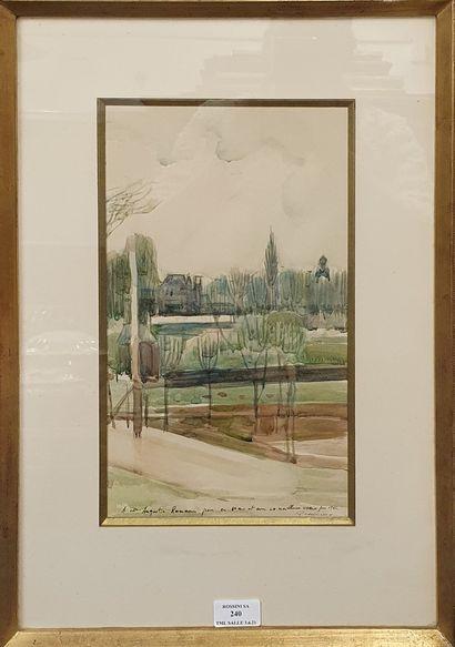 PRESSMANE Joseph, 1904-1967,  Arbres dans...