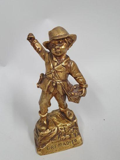FLAMAND Georges, d'après  le grenadier  Bronze...
