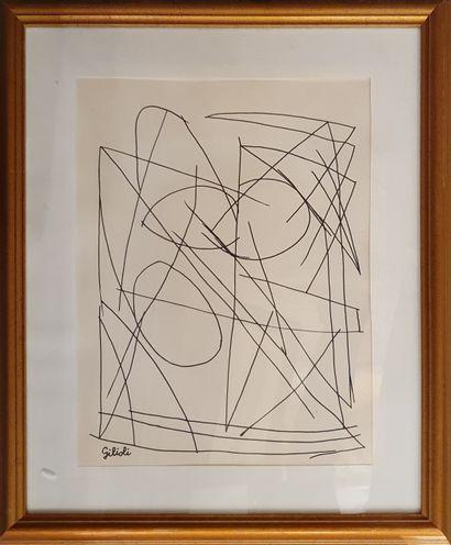 GILIOLI Émile, 1911-1977,  Sans titre,  dessin...