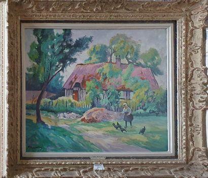MADELINE Paul, 1863-1920,  Paysanne devant...