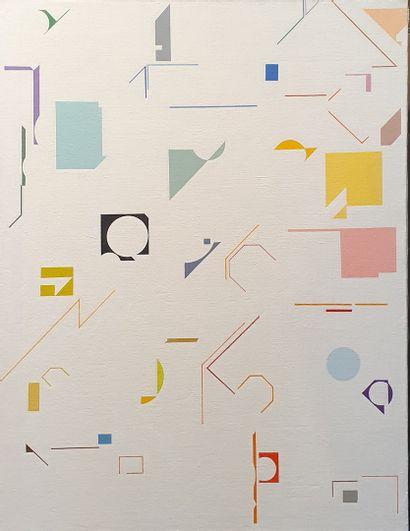 KIS Janos (1932-2017)  N°40  huile sur toile,...