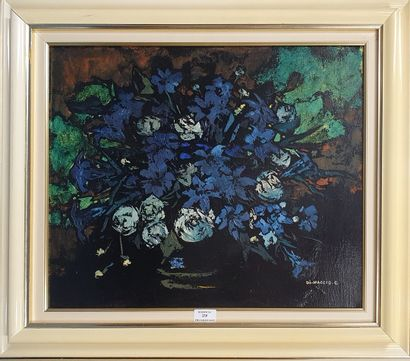 DI MACCIO Gérard, né en 1938,  Bouquet bleu,...