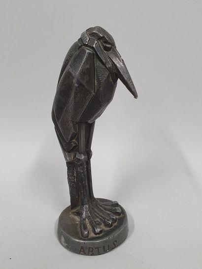 ARTUS Charles (1897-1978)  Marabout  sculpture...