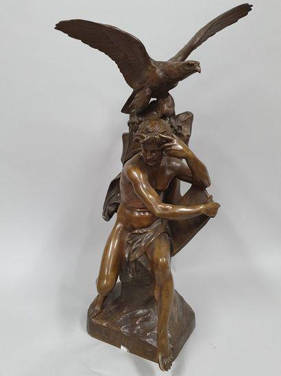 PICAULT Émile Louis, 1833-1915,  Le penseur,...