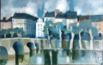 CONTE Bernard (1931-1995)  Paris, le pont...