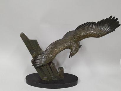 RULAS, actif circa 1930,  Aigle en vol,  groupe...