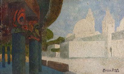 BINER Maurice (XX)  La mosquée, 1931  huile...