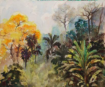 MÈGE Henri, 1904-1984  Paysages exotiques...