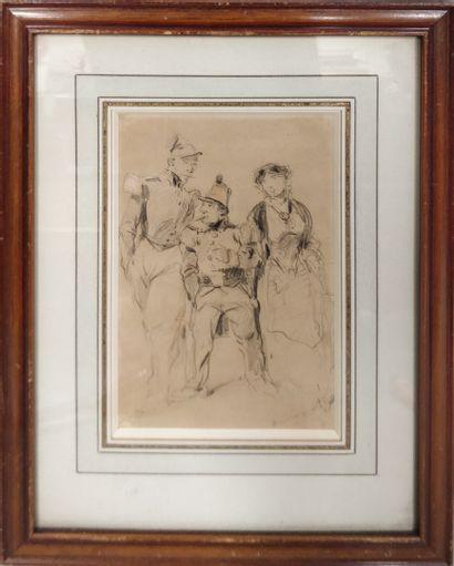 ANDRIEUX Clément Auguste, 1829-1880,  Représentants du peuple, 1848 - Le Fantassin,...
