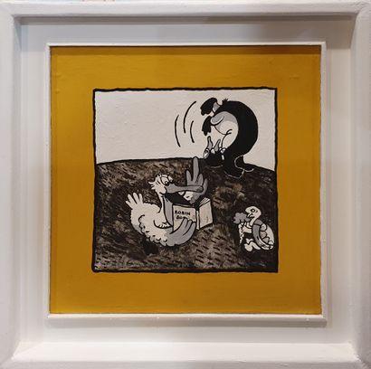LAFORTUNE Jacky, né en 1946  Copie en miroir,...