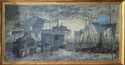 NOLOT Pierre (1935-?)  Vue de Venise, San...