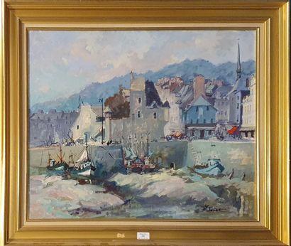 LORIOT Bernard (1925-1998)  Honfleur, la...