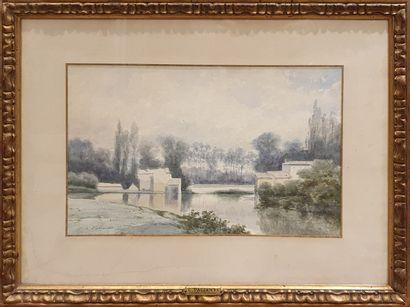 PALIANTI Charles Marie (1815-?)  Bord d'étang...