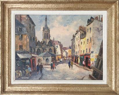 GUERIN Georges (1910-?)  Vue de la Chapelle...