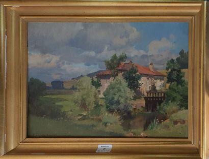 DAMERON Émile Charles, 1848-1908,  Maison...