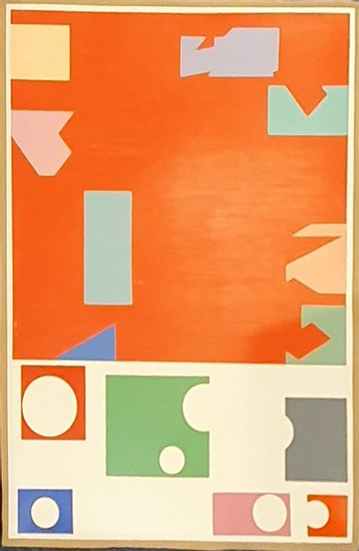 KIS Janos (1932-2017)  N°104  huile sur papier,...