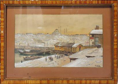 SAIM Hasan (XIX-XX)  Vue de Constantinople...