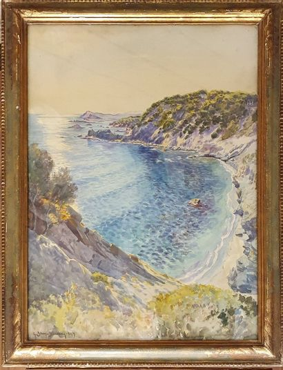 BRUN BUISSON Gabriel (1883-?)  Calanque,...