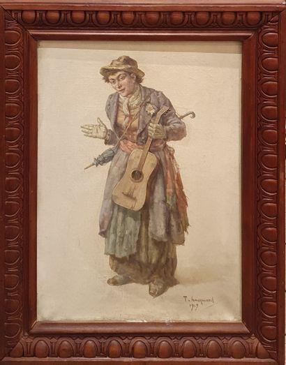 HACQUART Timothée, XIX-Xxe siècle,  La musicienne...