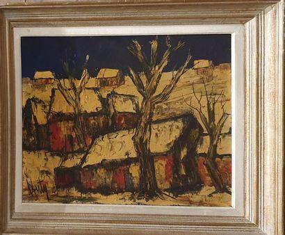 D ANTY Henri (1910-1998)  Paysage de neige...