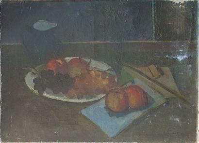PALMEIRO José, 1901-1984,  Pommes et raisins,...