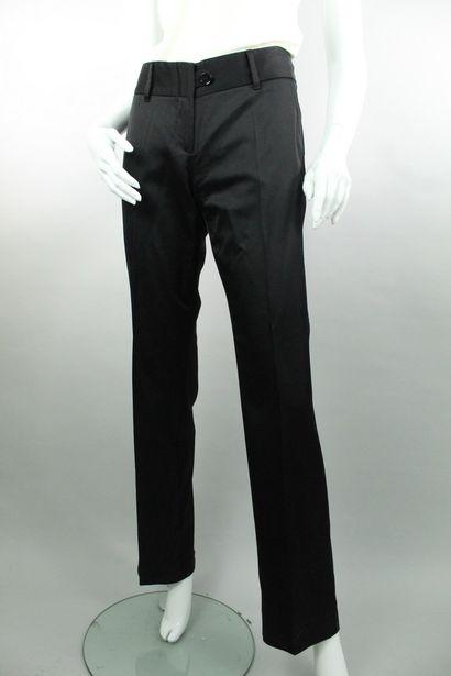 DOLCE & GABBANA    Pantalon noir droit en...