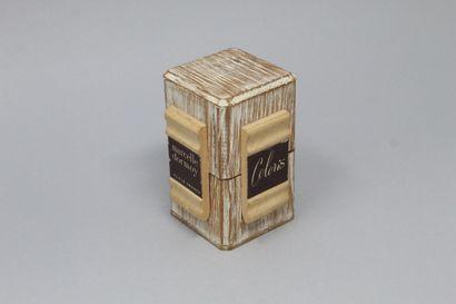 "MARCELLE DORMOY ""Coloris    Glass perfume bottle in its original wooden box, still..."