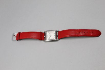 HERMES  Montre bracelet, boîtier rectangulaire...