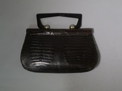 ANONYMOUS Lot of six bags, some in reptile, others in golden lurex canvas.