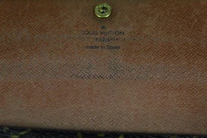 """LOUIS VUITTON  Sarah"""" model wallet in monogrammed canvas.  Three pockets, one zipped...."""