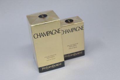 """YVES SAINT LAURENT """"Champagne""""    Eau de toilette """"Champagne"""", 100 mL dans sa boîte..."""