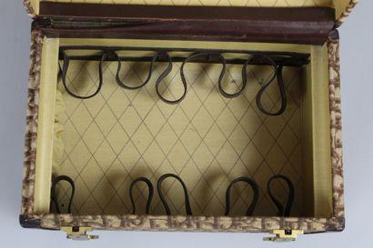 DIOR    Vanity of rigid toilet in havana leather and oblique monogram canvas Dior....