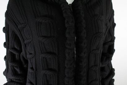 """CHANEL    Around the world"""" collection, Fall/Winter 2013    Black knitted jacket..."""