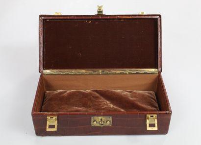 "HERMES (circa 1950) Rare sac ""Doctor bag"" en crocodile d'estuaire (Crocodylus porosus)..."