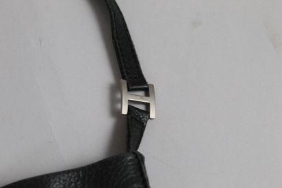 """HERMES    Shoulder bag """"Toudou"""" model in dark grey ultra soft leather.  One large..."""