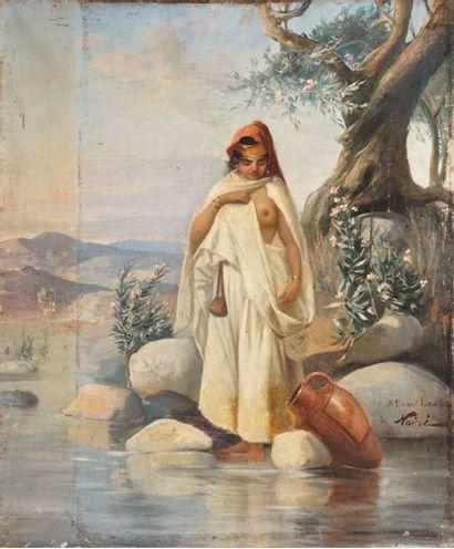 NOIRÉ Maxime, 1861-1927  Orientale à la source...