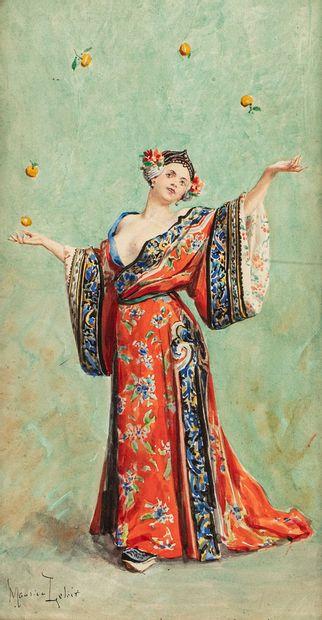 LELOIR Maurice, 1853-1940  Jongleuse de fruits...