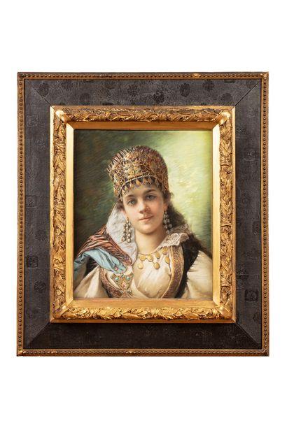 BRUNERY François, 1845-1926  Jeune femme...