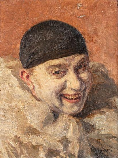 HENRION Armand, 1875-1958  Clown au sourire...
