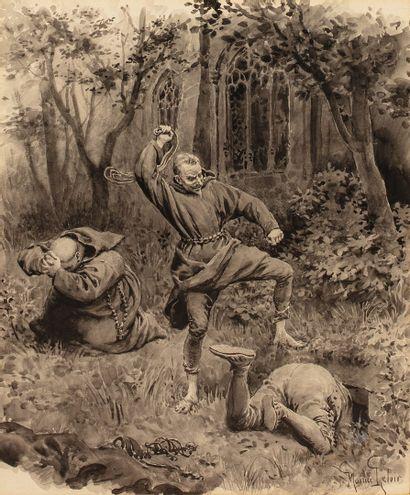 LELOIR Maurice, 1853-1940  Chicot fouettant...