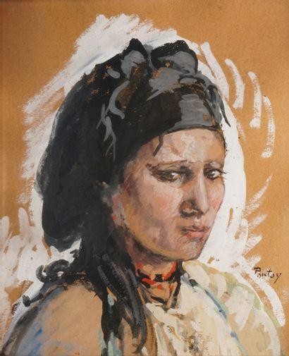 PONTOY Henri Jean, 1888-1968  Jeune berbère...