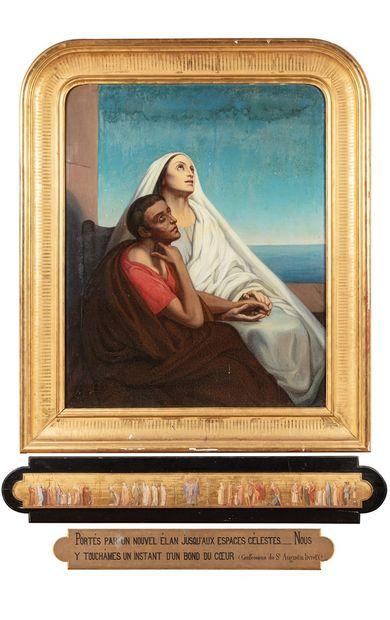 ANONYME, d'après Ary SCHEFFER  Saint-Augustin...