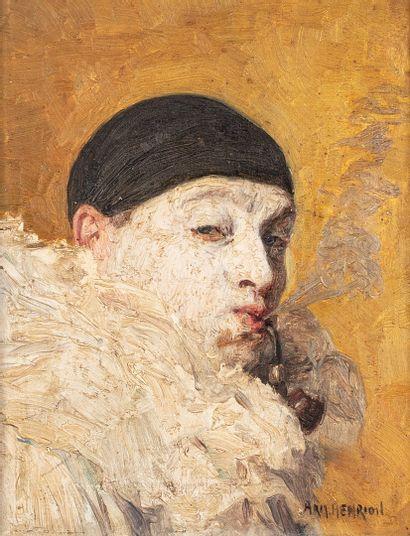 HENRION Armand, 1875-1958  Clown à la pipe...