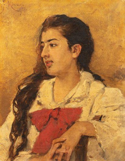 MIRALLES Y GALUP Francisco, 1848-1901  Jeune...