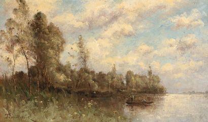TROUILLEBERT Paul Désiré, 1829-1900  Pêcheurs...